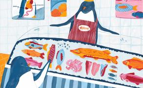 Alice Horn_Illustration - BA (Hons)_2019_Penguin at the supermarket!_1.jpg